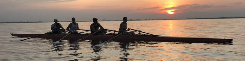 TRC members in a quad at sunrise on Hillsborough Bay, 7/4/2019 6:33:00 AM