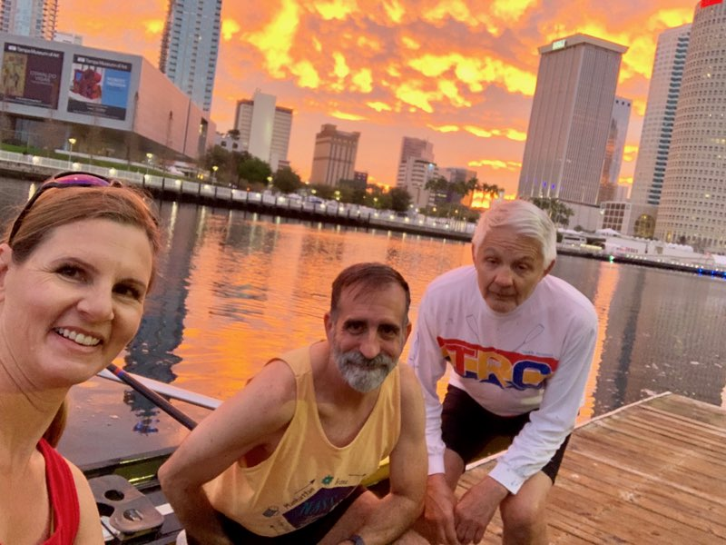 Angela, Brent and Gary at sunrise, 3/1/2019 7:11:00 AM