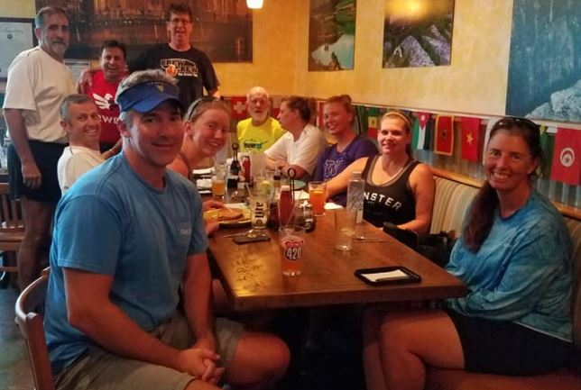 July 4, 2018 post dam row (15 miles) row brunch, 7/4/2018 11:24:00 AM
