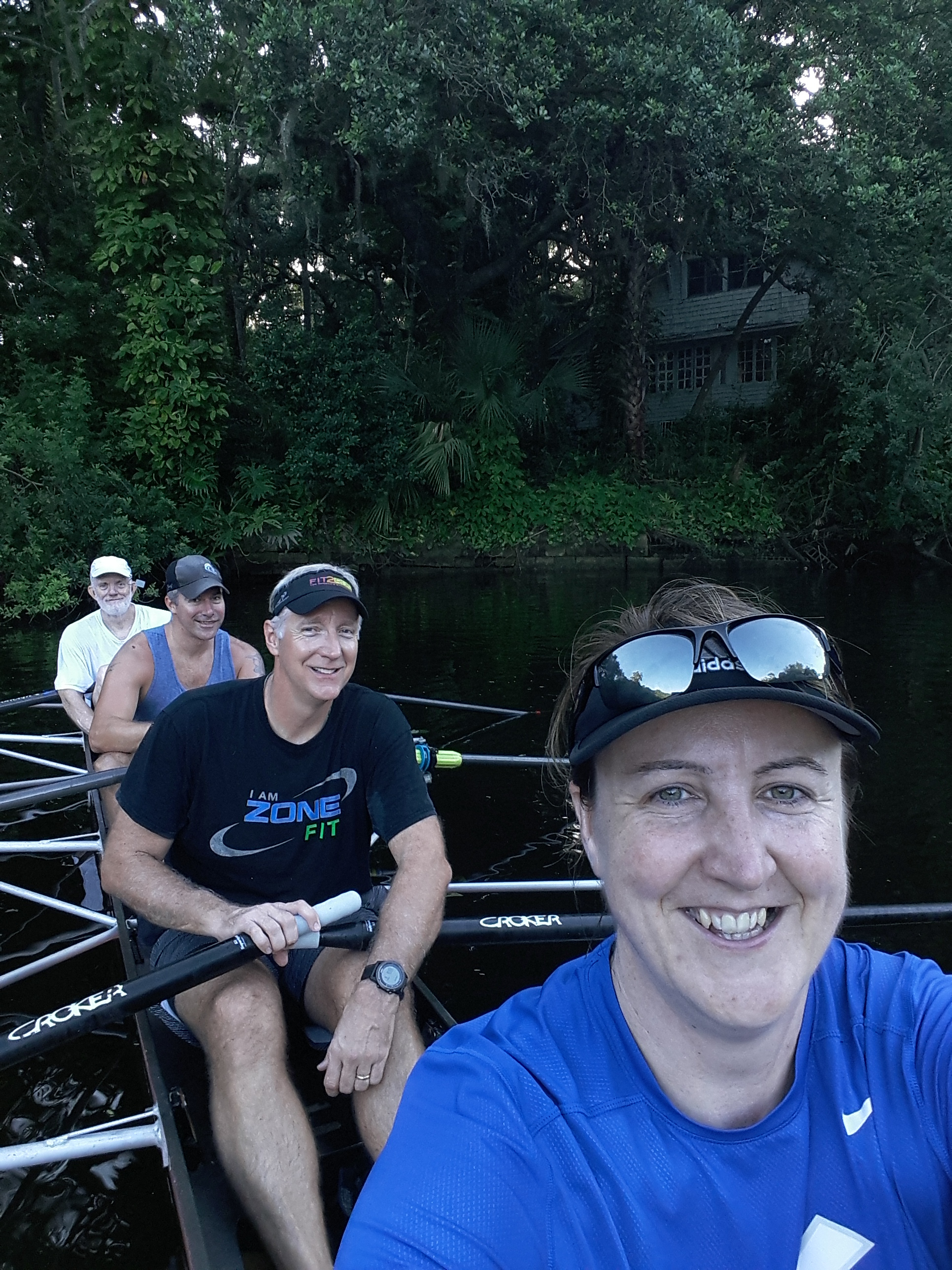 don, Matt, Charlie and Kath 8 miles up river, 7/4/2017 7:14:00 AM